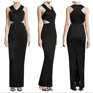 AQ/AQ Sandy Sleeveless Cutout Maxi Dress In Black
